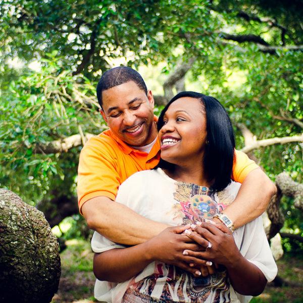 Rinata & Carson | Engagement Session | Treaty Oak Park & Friendship Fountain | Jacksonville, Fla.