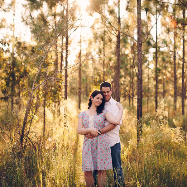 Sarah + Josh | Ralph Simmons State Forest Engagement Photos | Hilliard, Fla.