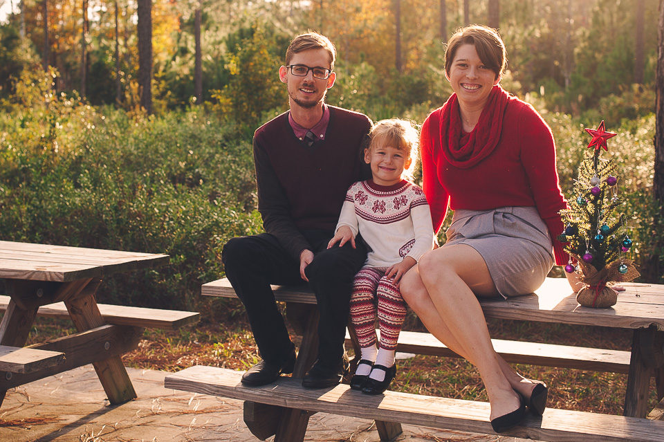 Devin, Ryan and Riley | Christmas Family Portraits | Julington Durbin Preserve | Jacksonville, Fla.